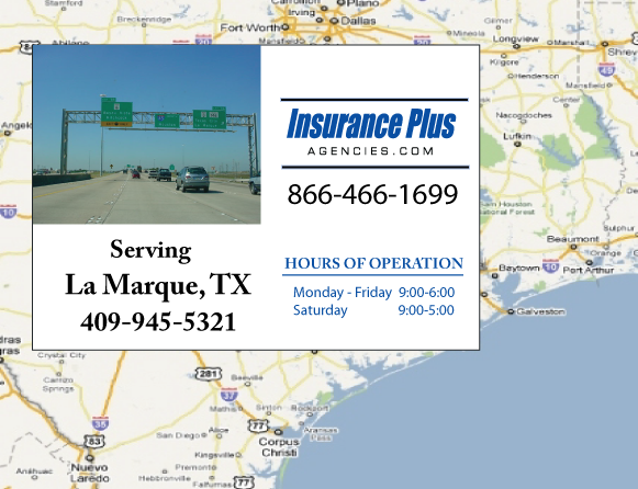 Insurance Plus Agencies of Texas (409)945-5321 is your Event Liability Insurance Agent in La Marque, Texas.