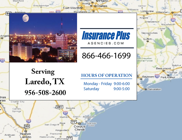 Insurance Plus Agencies of Texas (956)508-2600 is your Commercial Liability Insurance Agency serving Laredo, Texas.
