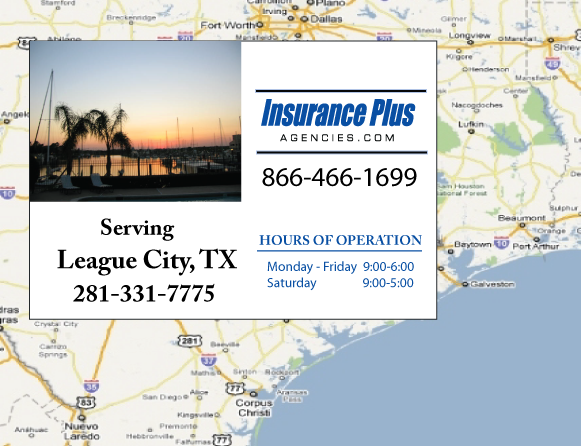 Insurance Plus Agencies of Texas (281)331-7775 is your Progressive Boat, Jet Ski, ATV, Motor Coach, & R.V. Insurance Agent in League City, Texas.