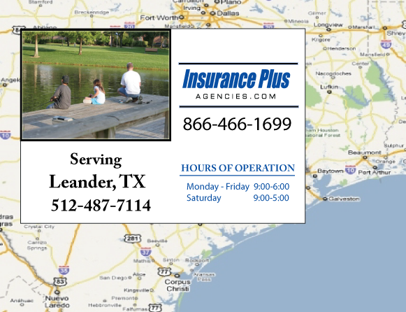 Insurance Plus Agencies of Texas (512)487-7114  is your Event Liability Insurance Agent in Leader, Texas.