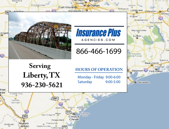 Insurance Plus Agencies of Texas (936)230-5621 is your Commercial Liability Insurance Agency serving Liberty, Texas.