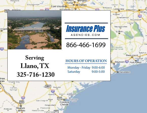 Insurance Plus Agencies of Texas (325)716-1230 is your Event Liability Insurance Agent in Llano, Texas.