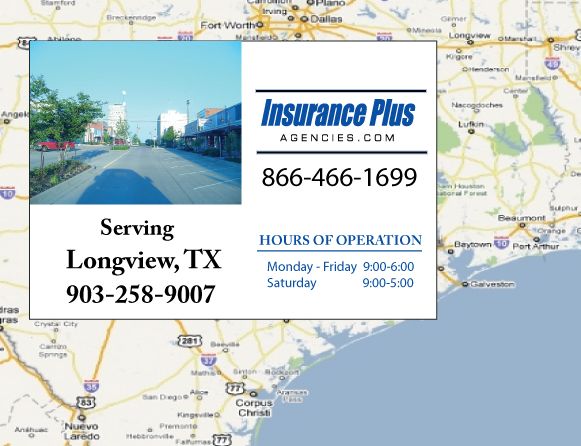 Insurance Plus Agencies of Texas (903)258-9007 is your Commercial Liability Insurance Agency serving Longview, Texas.