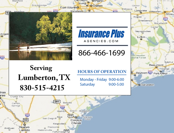 Insurance Plus Agencies of Texas (830)515-4215 is your Commercial Liability Insurance Agency serving Lumberton, Texas.