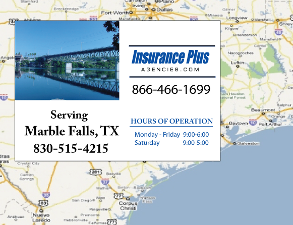 Insurance Plus Agencies of Texas (830)515-4215 is your Event Liability Insurance Agent in Marble Falls, Texas.
