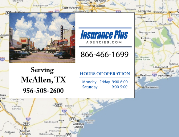 Insurance Plus Agencies of Texas (956)508-2600 is your Commercial Liability Insurance Agency serving McAllen, Texas.