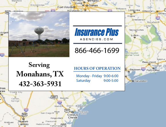 Insurance Plus Agencies of Texas (432)363-5931 is your Commercial Liability Insurance Agency serving Monahans, Texas.
