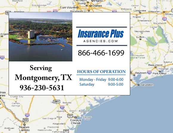 Insurance Plus Agencies of Texas (936)230-5621 is your Event Liability Insurance Agent in Montgomery, Texas.