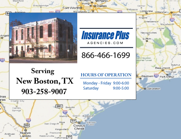 Insurance Plus Agencies of Texas (903)258-9007 is your Event Liability Insurance Agent in New Boston, Texas.