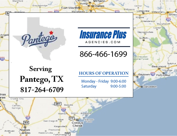 Insurance Plus Agencies of Texas (817)264-6709 is your Commercial Liability Insurance Agency serving Pantego, Texas. Call our dedicated agents anytime for a Quote. We are here for you 24/7 to find the Texas Insurance that's right for you.
