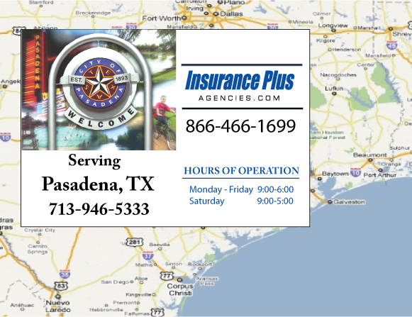 Insurance Plus Agencies of Texas (713)946-5333 is your Commercial Liability Insurance Agency serving Pasadena, Texas.