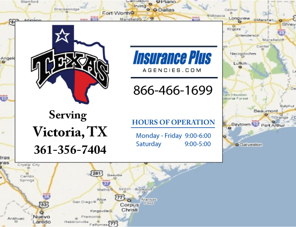 Insurance Plus Agencies (361) 356-7404 is your local Progressive office in Victoria, TX.