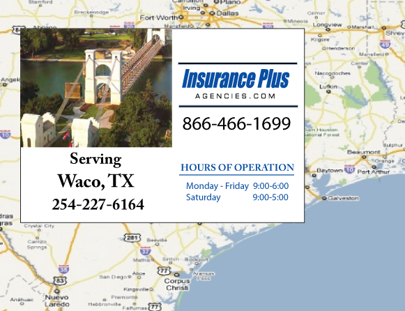 Insurance Plus Agencies (254) 227-6164 is your local Progressive office in Waco, TX.