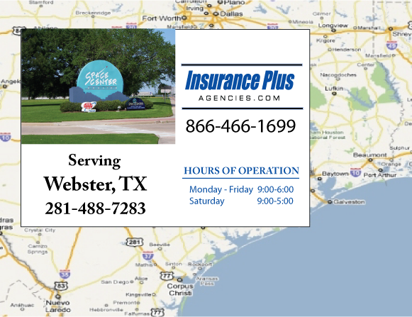 Insurance Plus Agencies of Texas (281)488-7283 is your Commercial Liability Insurance Agency serving Webster, Texas.
