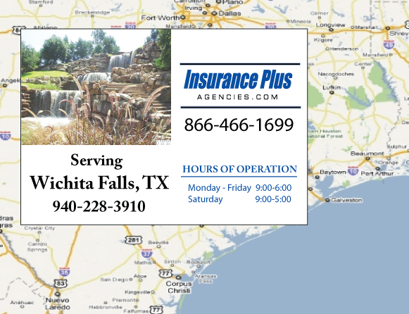 Insurance Plus Agencies of Texas (940)228-3910 is your Commercial Liability Insurance Agency serving Wichita Falls, Texas.