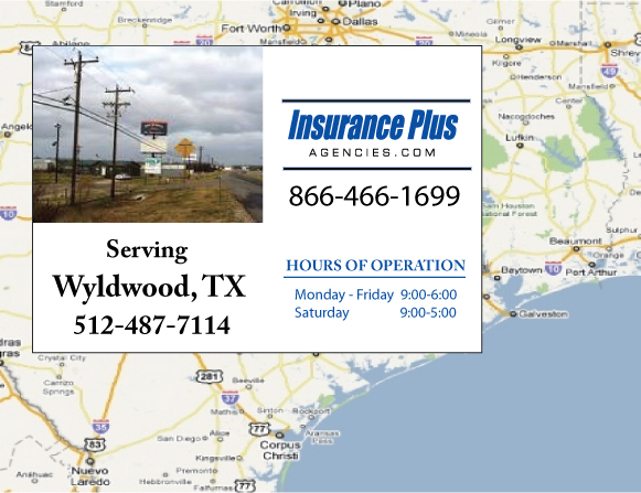 Insurance Plus Agencies of Texas (409)741-2145 is your Commercial Liability Insurance Agency serving Wyldwood, Texas. Call our dedicated agents anytime for a Quote. We are here for you 24/7 to find the Texas Insurance that's right for you.